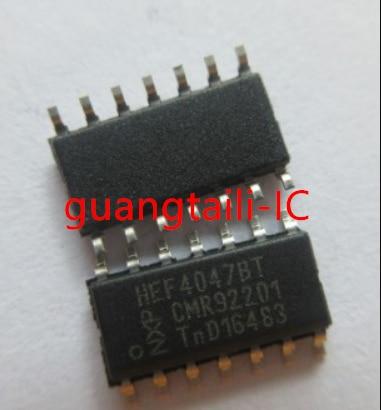 10 pces hef4047 hef4047bt sop-14 lógica multi freqüência oscilador chip peças originais novas