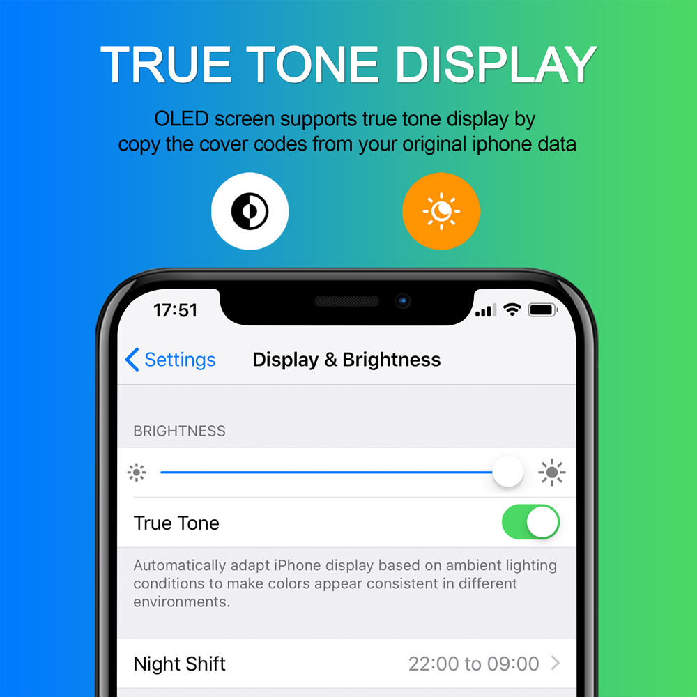 FOQITTO OLED for iphone X XR XS Max LCD Screen Replacement for iPhone 11 Pro Display with 3D Touch Support True Tone enlarge