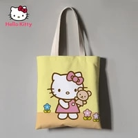 hello kitty pink eco friendly cloth bag book bag shopping bag gift bag shoulder canvas bag