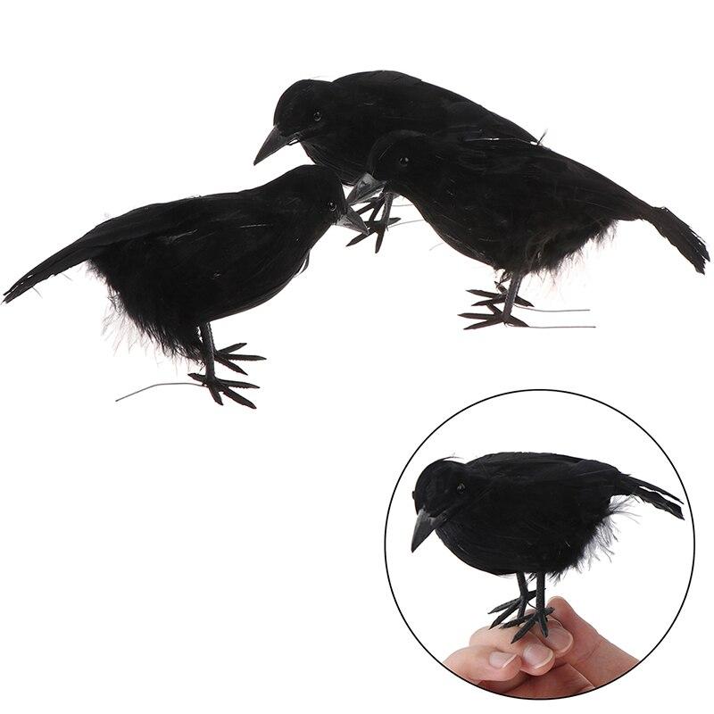 Halloween Cuervo Ave artificial juguetes Ravens Prop fantasía decoración de ropa Props Dropshipping decoración de fiesta