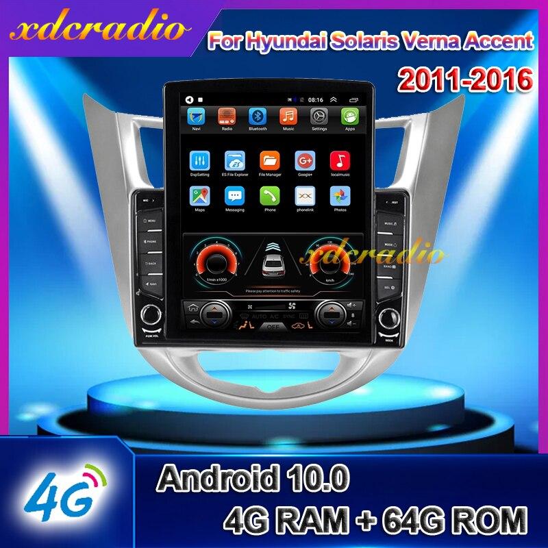 "Xdcradio 10.4 ""Tesla Stijl Scherm Android 10.0 Voor Hyundai Solaris Verna Accent Auto Radio Navigatie Auto Dvd Multimedia Speler"