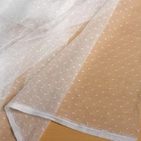 round dots mesh lace fabric tulle net baby clothes fluffy skirt childrens dress fabric curtains reception table layout