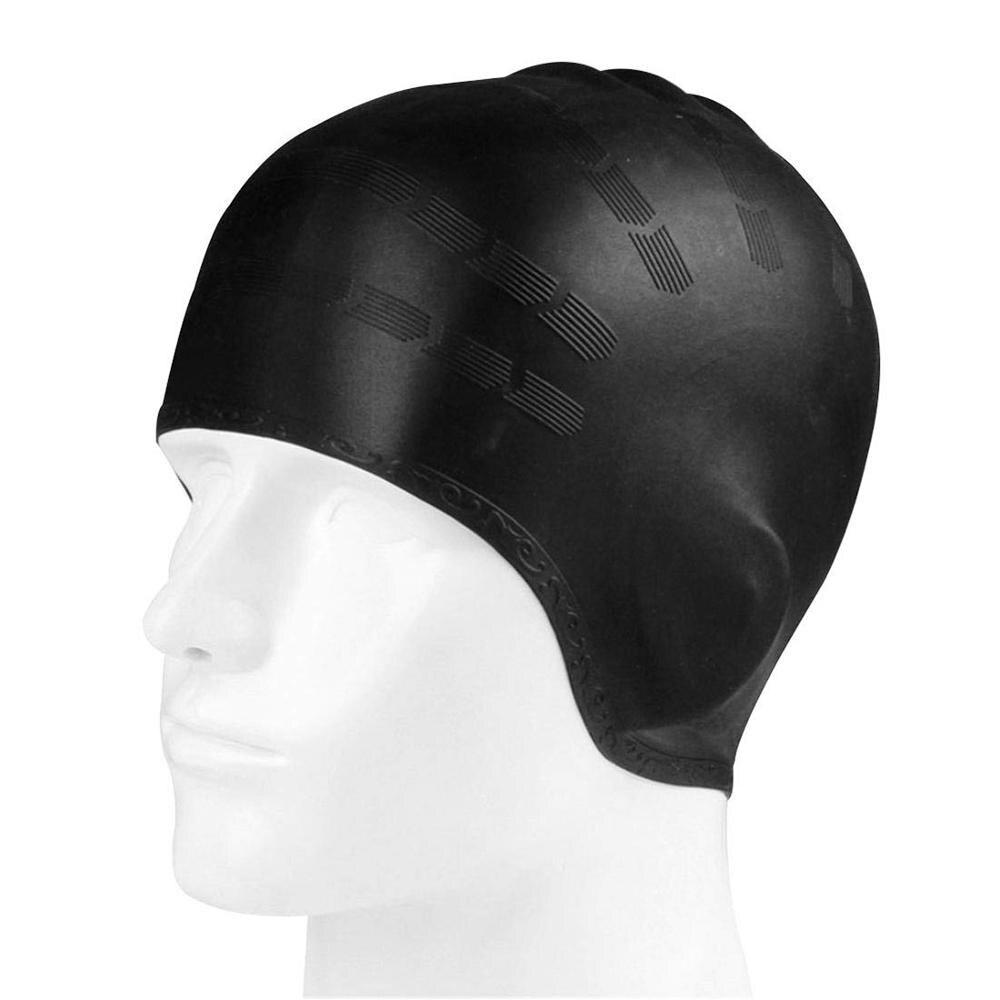 Swimming Caps Pool Accessories Adults Long Hair Waterproof Swim Pool Cap Ear Protect Large Natacion Badmuts Silicone Diving Hat