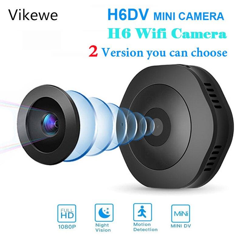 Vikewe H6 DV/Wifi Mini cámara de noche versión Mini cámara de acción con Sensor de movimiento videocámara grabadora de vídeo de voz pequeña cámara