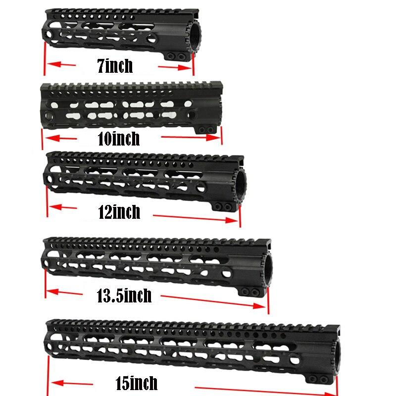 Totrait tactique 4 7 1012 15.système de Rail Keymod Handguard pour Airsoft AEG pour le tir de chasse