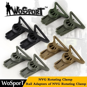 Wosport tactical Helmet Goggle Swivel Clips Set for Helmet Side Rails  Paintball Airsoft Tactical Combat Mount Helmet Accessory