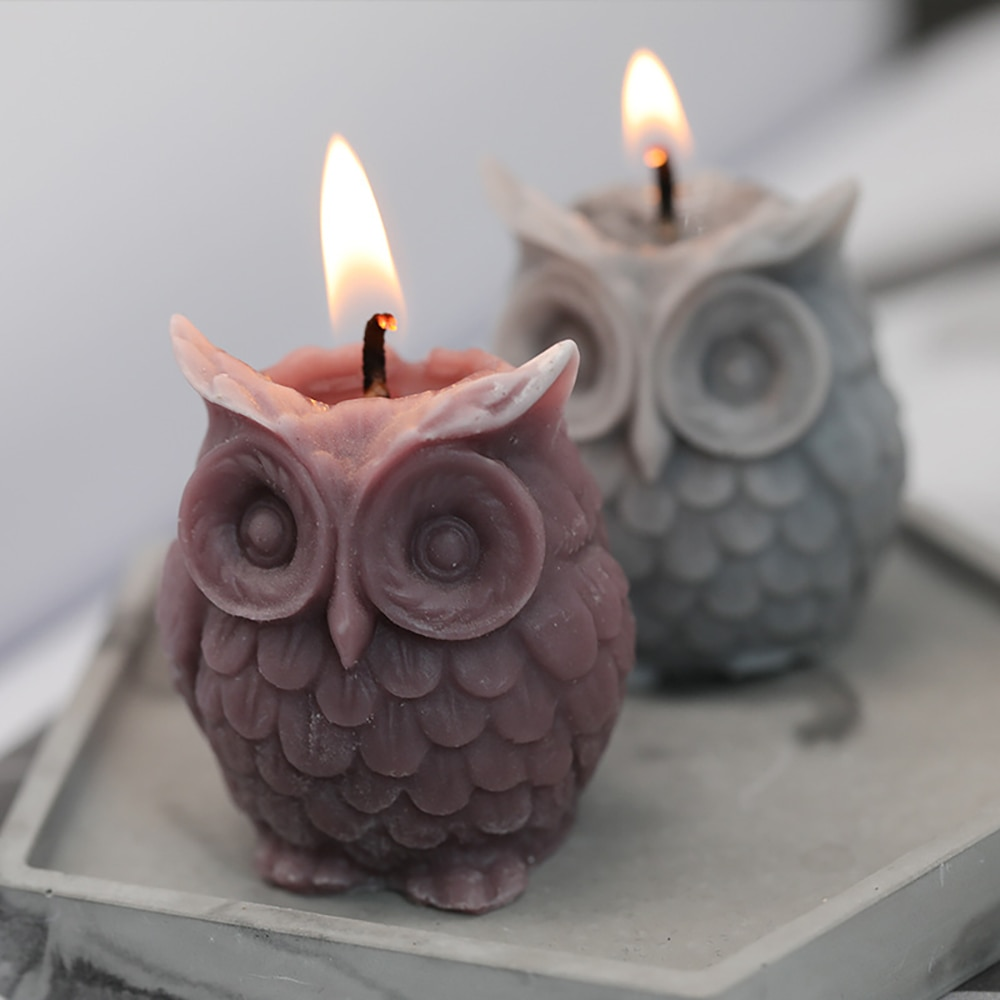 3D Owl Candle Mold Silicone Mold For Candle Making DIY Handmade Resin Molds For Plaster Soy Aroma Wax Soap Mould Soap Mold nicole silicone soap mold rectangle white liner mould for handmade making tool