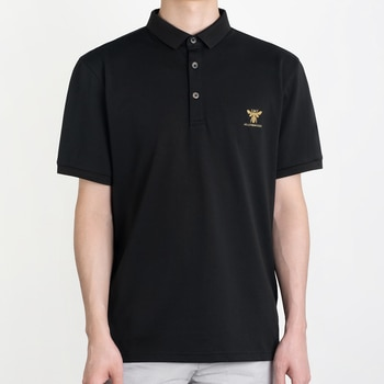 HELLEN&WOODY 2021SS Causal Slim Fit Business High Quality Golden bee Print Logo Cotton Blend Clothing T-shirt Men's Polo Shirts