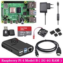 Raspberry Pi 4 Model B 2G 4G Ram + Abs Case + Koelventilator + Voeding Lader + Aluminium Koellichaam Voor Raspberry Pi 4 Model B