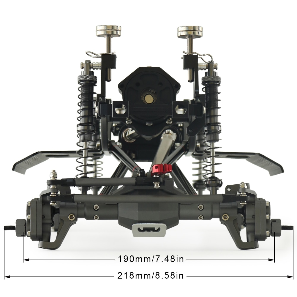 313mm Wheelbase Metal Chassis Frame kit With Prefixal Planetary Gearbox Portal Axle for 1/10 RC Crawler SCX10 Off Road Truck enlarge