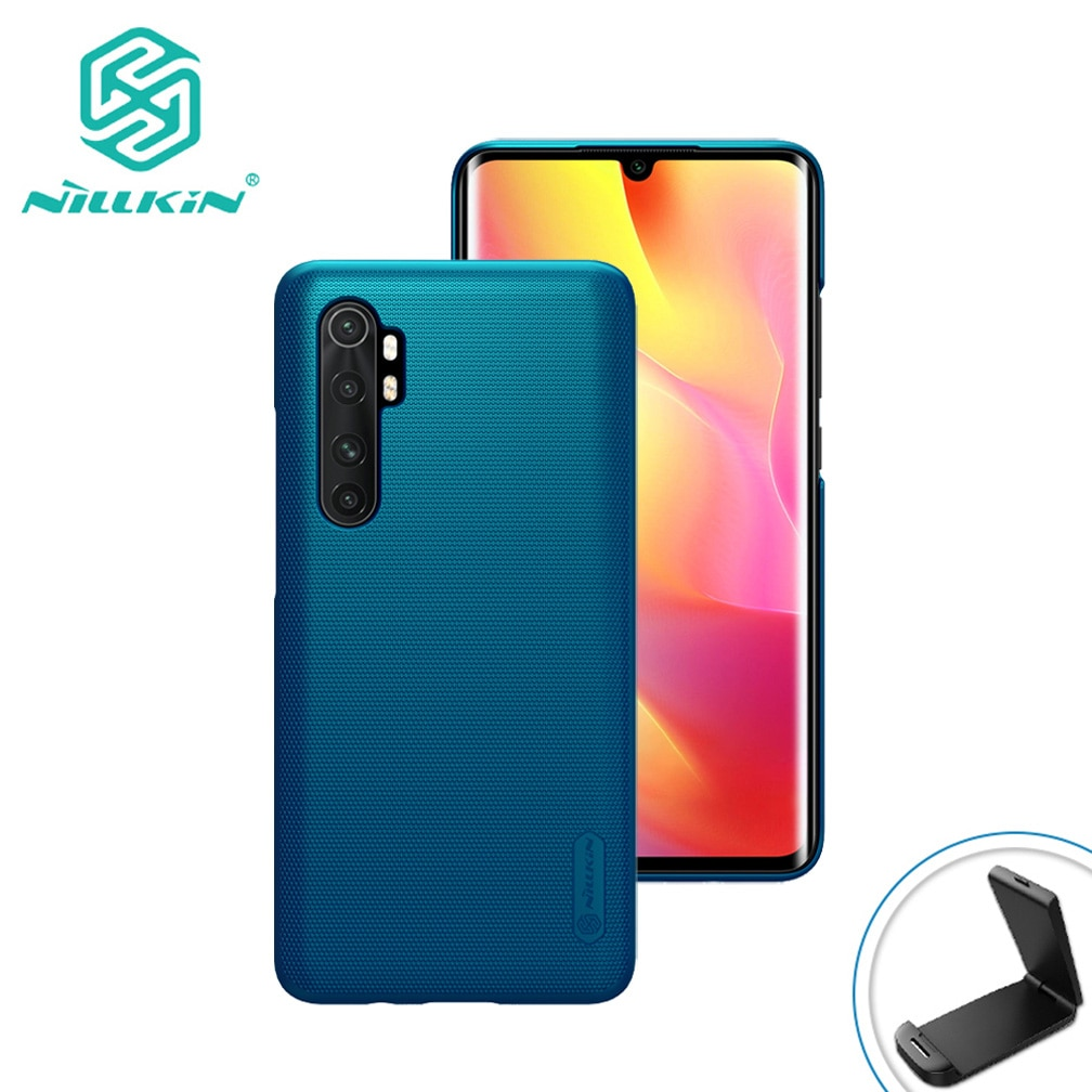 For Xiaomi Mi Note 10 Lite Case Nillkin Super Frosted Shield Ultra-Thin Hard PC Protective Back Cove