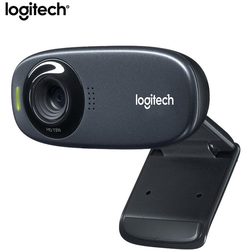 LOGITECH-C270 / C270i كاميرا ويب للكمبيوتر ، HD كاميرا ويب فيديو مع ميكروفون مدمج 720P ، لوجيتك ، 100% الأصلي