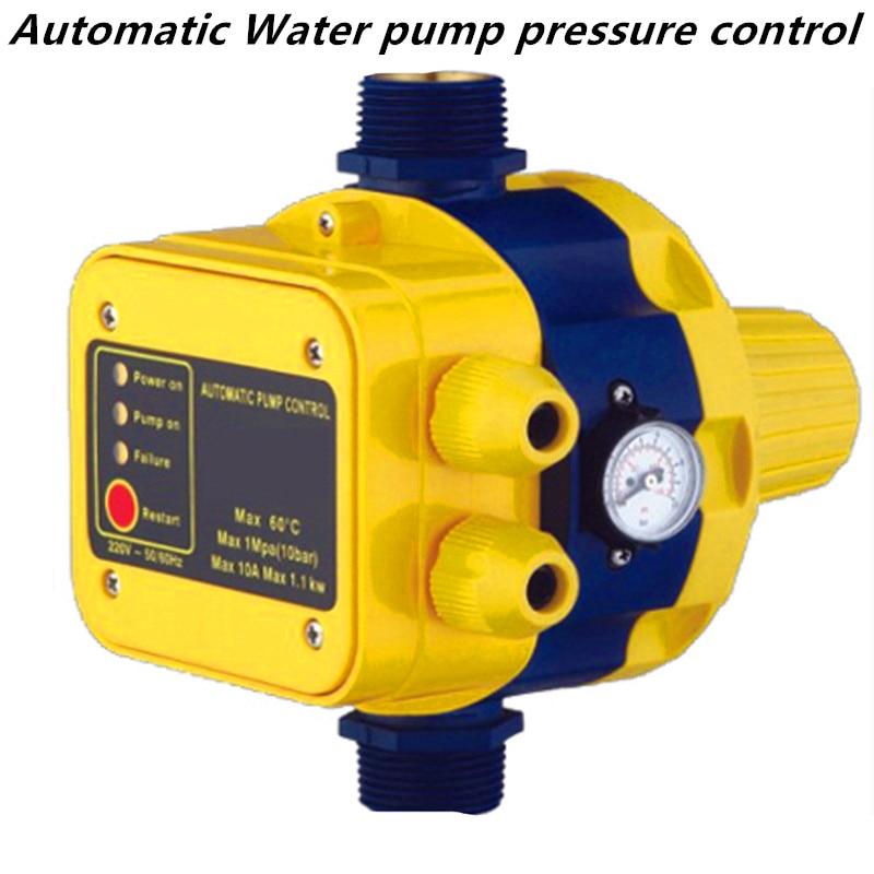 Автоматический переключатель давления водяного насоса, Электрический контроллер с манометром, домашние аксессуары