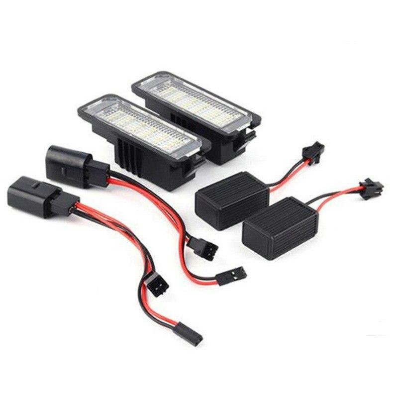 Светодиодный светильник для номерного знака VW Golf MK7 7,5 7 GTI MK6 MK5 Polo 6N 6R Passat CC Beetle LUPO EOS