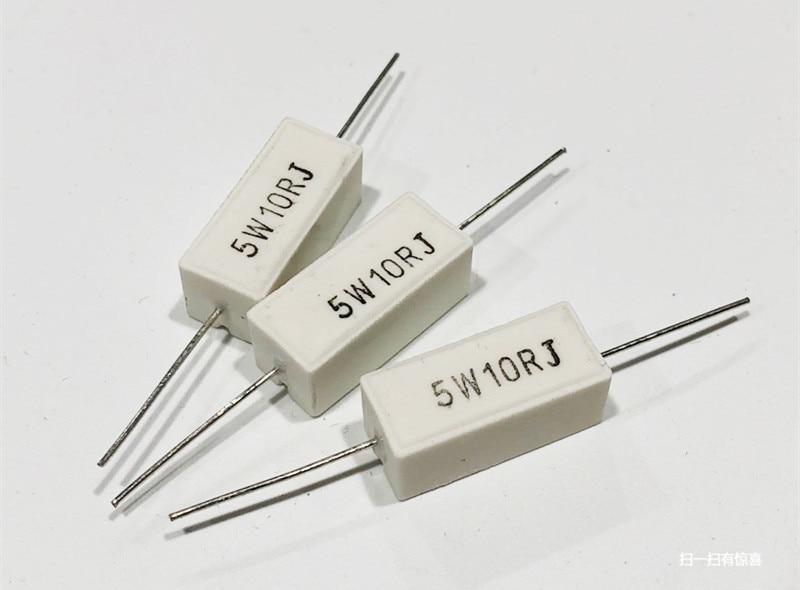 5 pcs RX27-1 sqp tipo horizontal resistor de energia de cimento cerâmico 5 w 10 k 12 k 15 k 18 k 20 k 30 k 45 k 68 k ohm