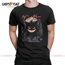 Gengar Kaiju 일본 스타일 포켓몬 의류 코미디 패션 T-셔츠 남성 참신 순수 코튼 티셔츠 반소매 티셔츠 고유