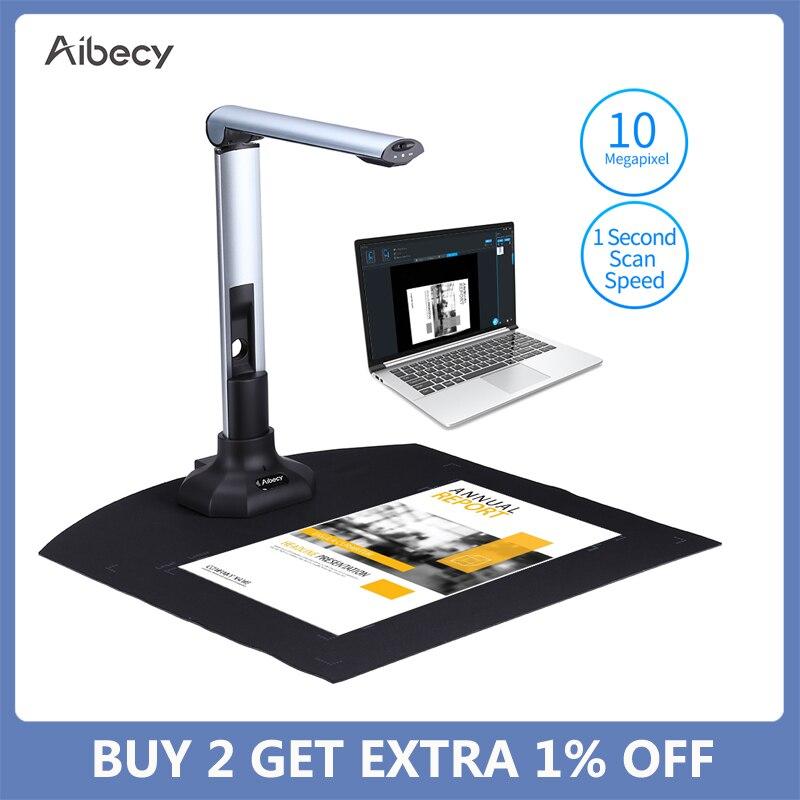 Aibecy-ماسح ضوئي A3 BK52 لكتاب الصور ، ماسح ضوئي للوثائق ، التقاط 10 ميجا بكسل ، USB 2.0 ، كاميرا توصيل عالية السرعة