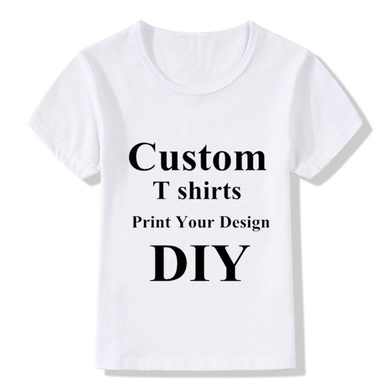 Детские футболки на заказ, самодельные Детские футболки с вашим дизайном, футболки для мальчиков и девочек, самодельные футболки, топы с при...