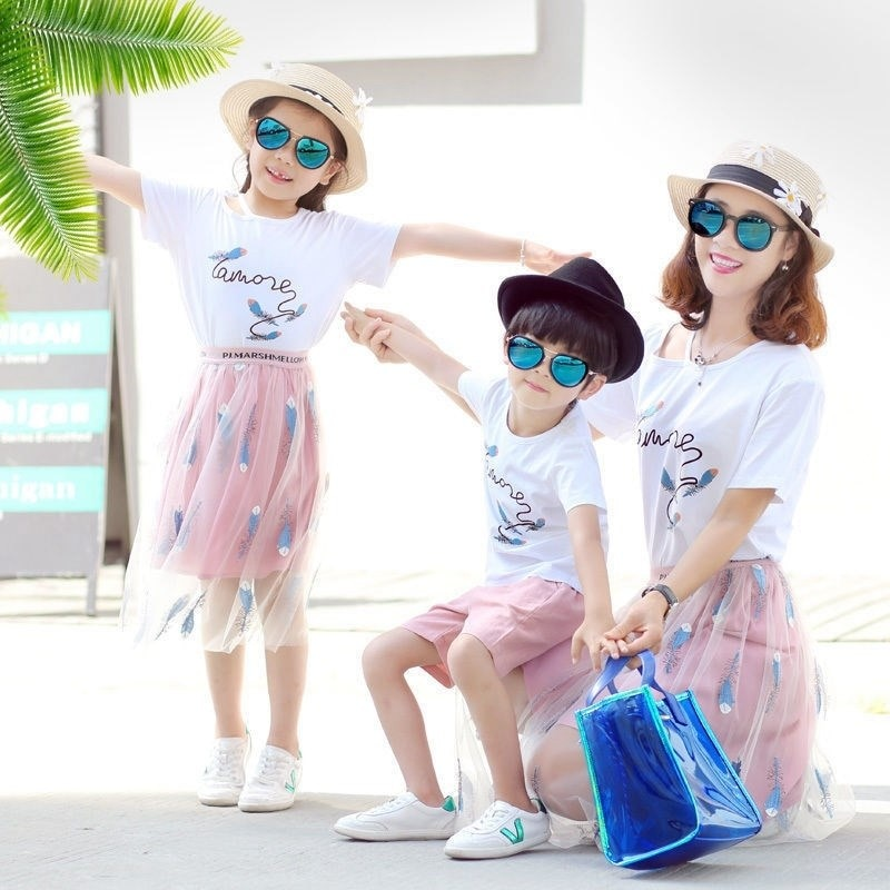 2021 New Summer Casual, Clear and Beautiful Parent-child Set