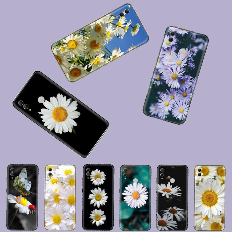 Funda de teléfono de silicona TPU suave flores Margarita para Huawei Honor 7C 7A 8X 8A 9 10 10i Lite 20 NOVA 3i 3e
