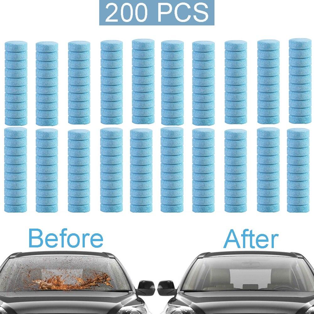 Таблетки для мытья стекол, шипучие таблетки для мойки автомобильных окон