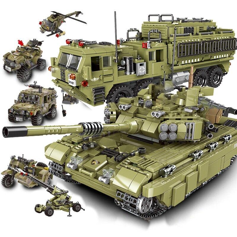 Ww2, tanque militar, avión, motocicleta, avión, traje, personaje, bloques de construcción, juguetes para niños de la guerra mundial SWAT II