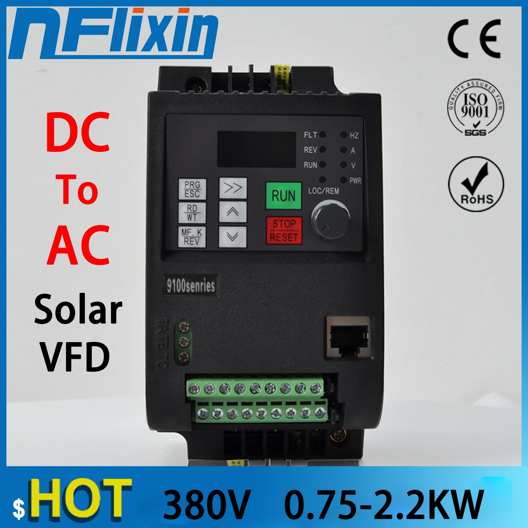 Convertidor de frecuencia de Control vectorial NF9100 DC 400V-700V a inversor de bomba solar trifásico 380V con control MPPT envío gratis