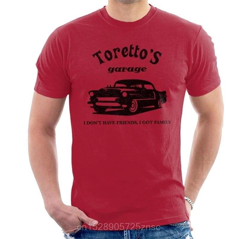 Printed camiseta The Fast And The Furious Torettos Garage Mens T-Shirt masculina women camiseta