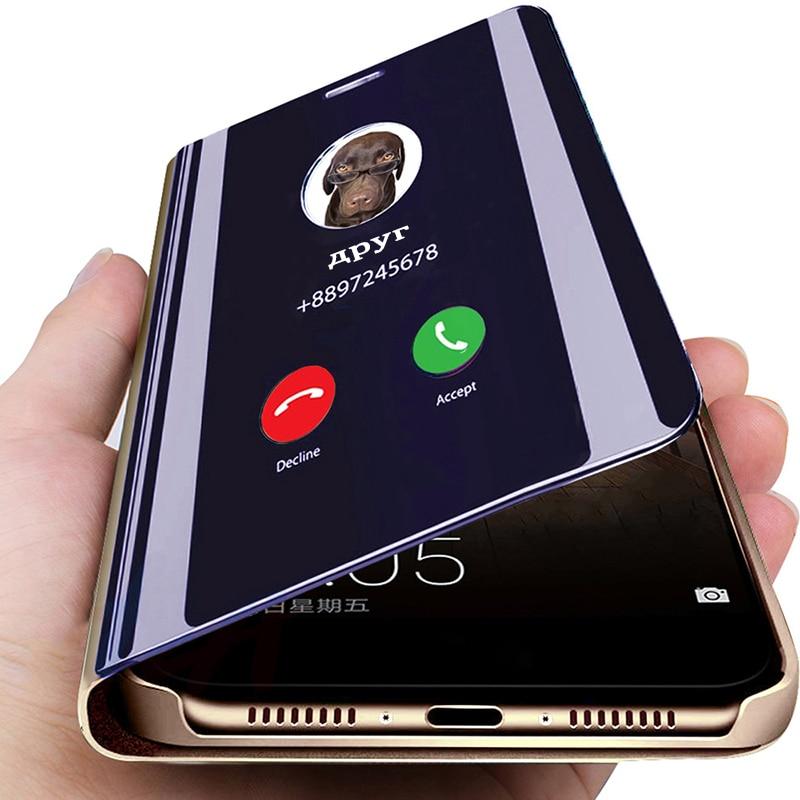Funda con tapa de espejo inteligente para Huawei Mate 30 20 P40 P20 P30 Honor 9X 10 Lite Pro P Smart 2019