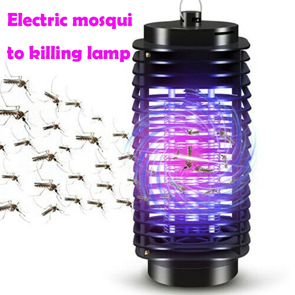 Electric Mosquito Killer Lamp Anti Flies Fly Bug Insect Zapper Trap Living Room Home Mini Pest Reject Catcher Light EU US Plug