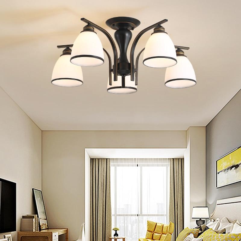 Современная стеклянная люстра в скандинавском стиле дизайнерский светильник
