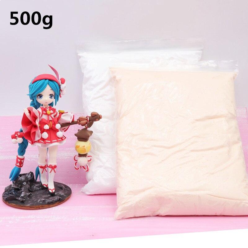 500 g/saco profissional ultraleve argila cor macia diy, boneca lama polímero seco boneca pele de gesso escultura de segurança argila argila