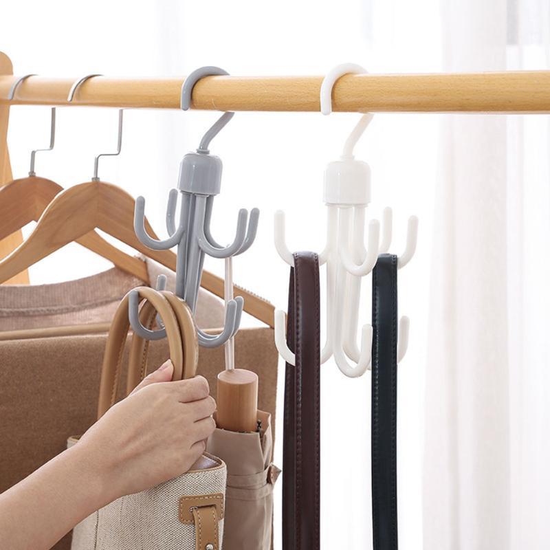 360-grad Drehbare Krawatte Aufhänger Schal Rack Aufhänger Schrank Closet Multi-Funktion Tasche Kleidung Lagerung Rack Organzier