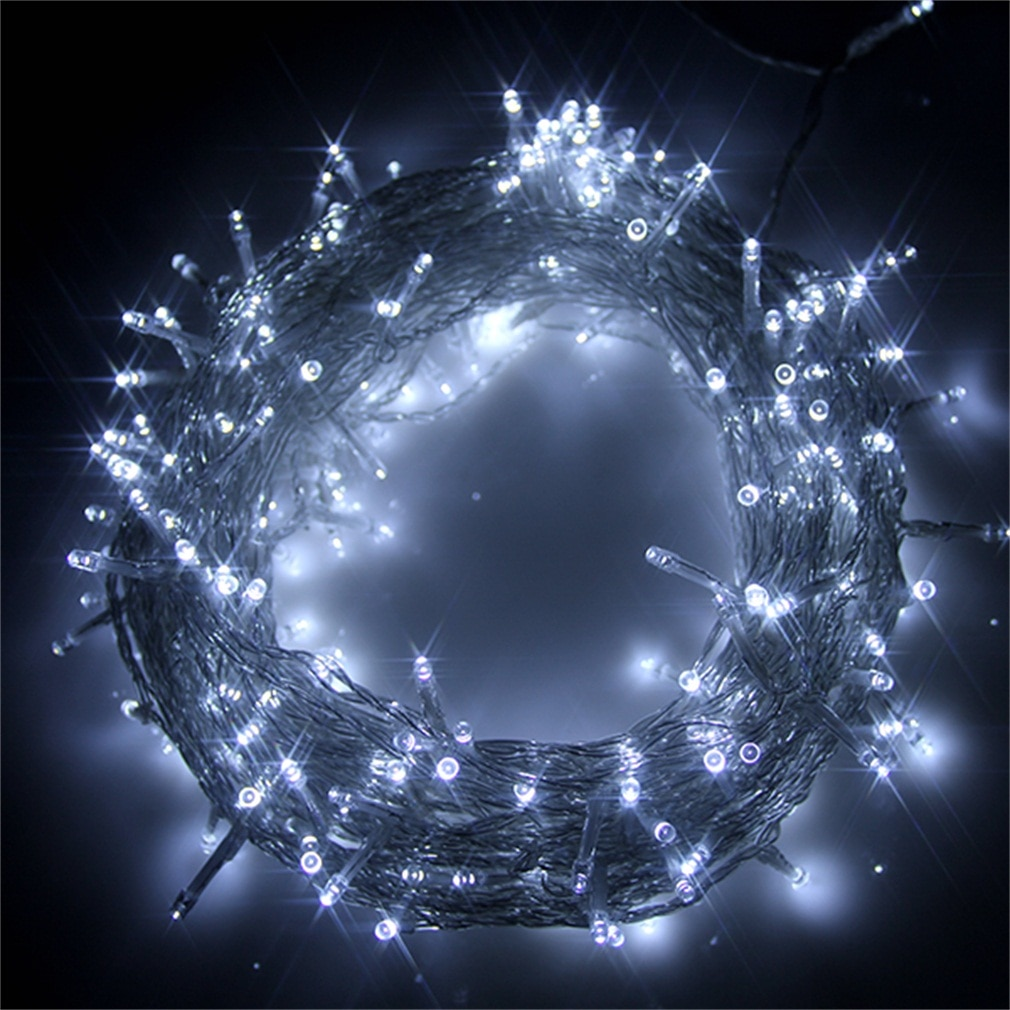 Guirnaldas de luces de colores surtidos ICOCO 100 LED 12M 8 modos fiesta Navidad jardín fiesta tiras de luces coloridas gran oferta