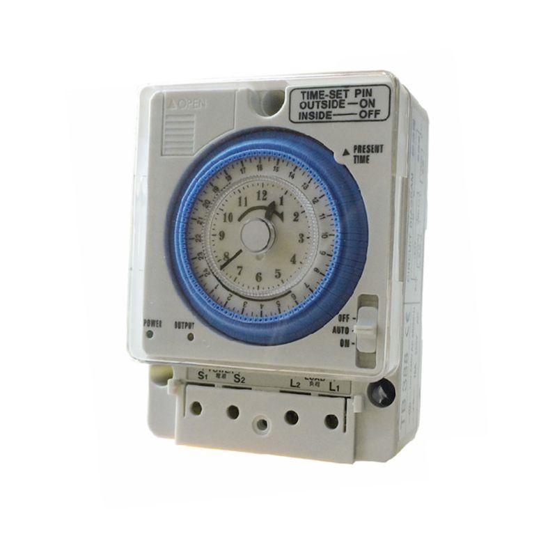 OOTDTY TB388 interruptor de temporizador mecánico 100-240V 24H 96 configuración controlador programable