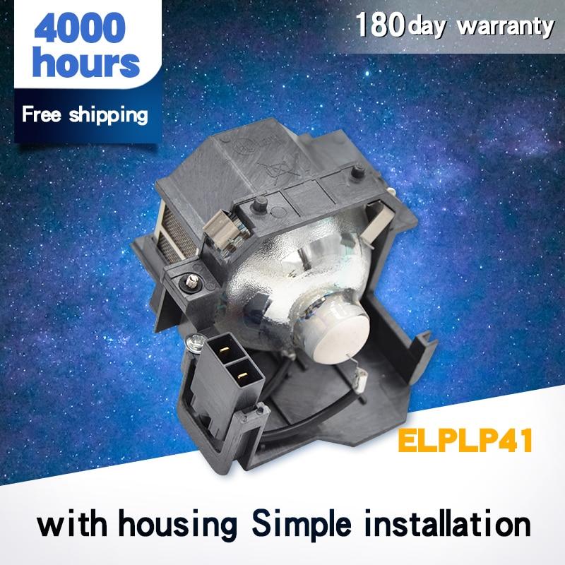 Высококачественная голая лампа/Лампа для проектора V13H010L41 / ELPLP41 для PowerLite S5 / S6 / 77C / 78, фонарь, фонарь, H283A,