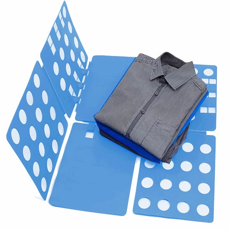 Clothing Folding Board T-Shirt Shorts Pajamas Clothing Folder Lightweight Adjustable Clothes Folder Easy Laundry Organizer Fast clothes folding board fast cloth folder plastic t shirts jumper organizer save time quick convenient stacking laundry fold board