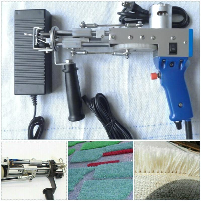 Electric Carpet Tufting Gun Hand Gun Carpet Weaving Flocking Machines Cut Pile Loop Pile EU UK US Plug enlarge