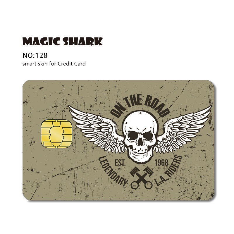 Moda corte cartão de crédito dos desenhos animados adesivo fita pele caso capa para pequeno cartão de crédito chip grande
