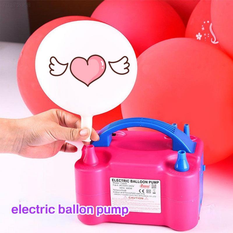 Bomba para inflar globos eléctrica portátil, enchufe europeo/estadounidense, dos boquillas, soplador de aire de alta potencia, soplador de aire de 110-440V, herramienta inflable Dropship