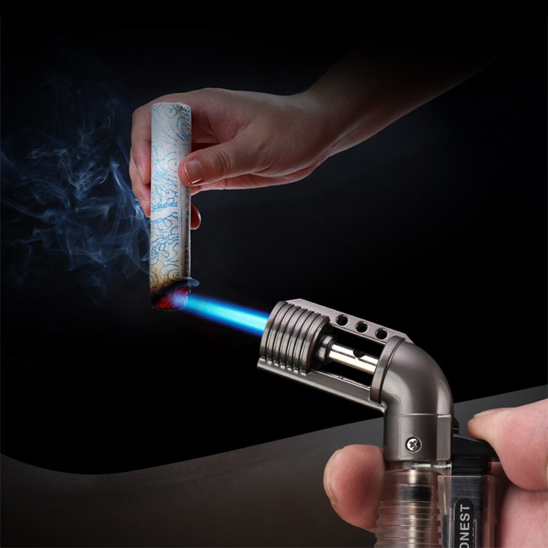 HONEST Torch Jet Lighter Gas Lighter 1300C Portable Spray Gun Cigarettes Cigar Windproof Lighters Metal Lighters Gadgets Men enlarge