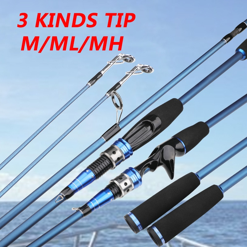 kingdom keel iii fishing rods l ml m mh high quality spinning 3 Kinds Tip Carbon Fishing Lure Rod 2.1m Spinning Casting Rod Powe M ML MH Bait Weigt 5-25g Pole