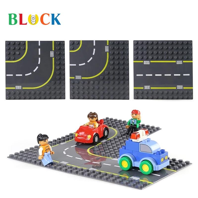 Дорожные блоки в сборе, материнская плата, базовый пол, большие частицы, совместимые с деталями, игрушки оптом