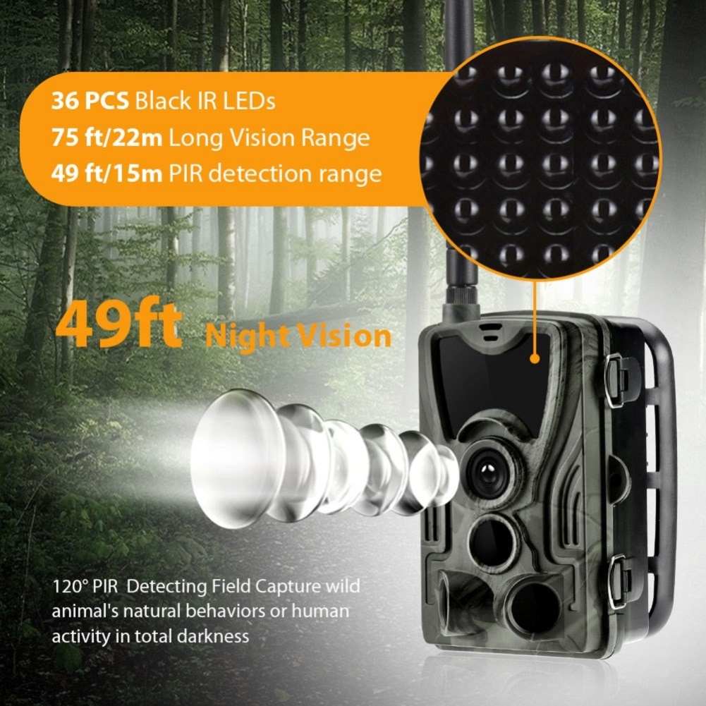 HC-801G 3G Hunting Camera Wild Night Vision Trail Camera Outdoor waterproof 0.3s Trigger Time 940nm LEDs Wildlife Cameras enlarge