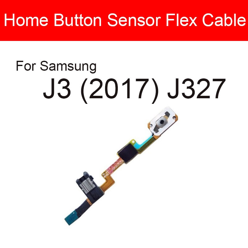 Home Button Flex Cable For Samsung Galaxy J3 (2017) J327 Menu Key Return Button With Audio Jack Flex