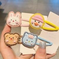 korean childrens animal hair clips girls cute cartoon hair accessories hairpin clip bangs clip women