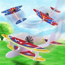 Jouet volant de jet de main pour enfants bricolage Biplane planeur en mousse alimenté par avion jouet modèle électrique Rechargeable