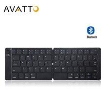 [Avatto] portátil de couro russo bluetooth sem fio tablet mini teclado com bt teclado para andorid ios ipad tablet portátil
