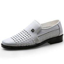 Männer weiß kleid schuhe männer italienische schuhe aus echtem leder coiffeur Hohl formal schuhe männer klassische zapatos para hombre 635