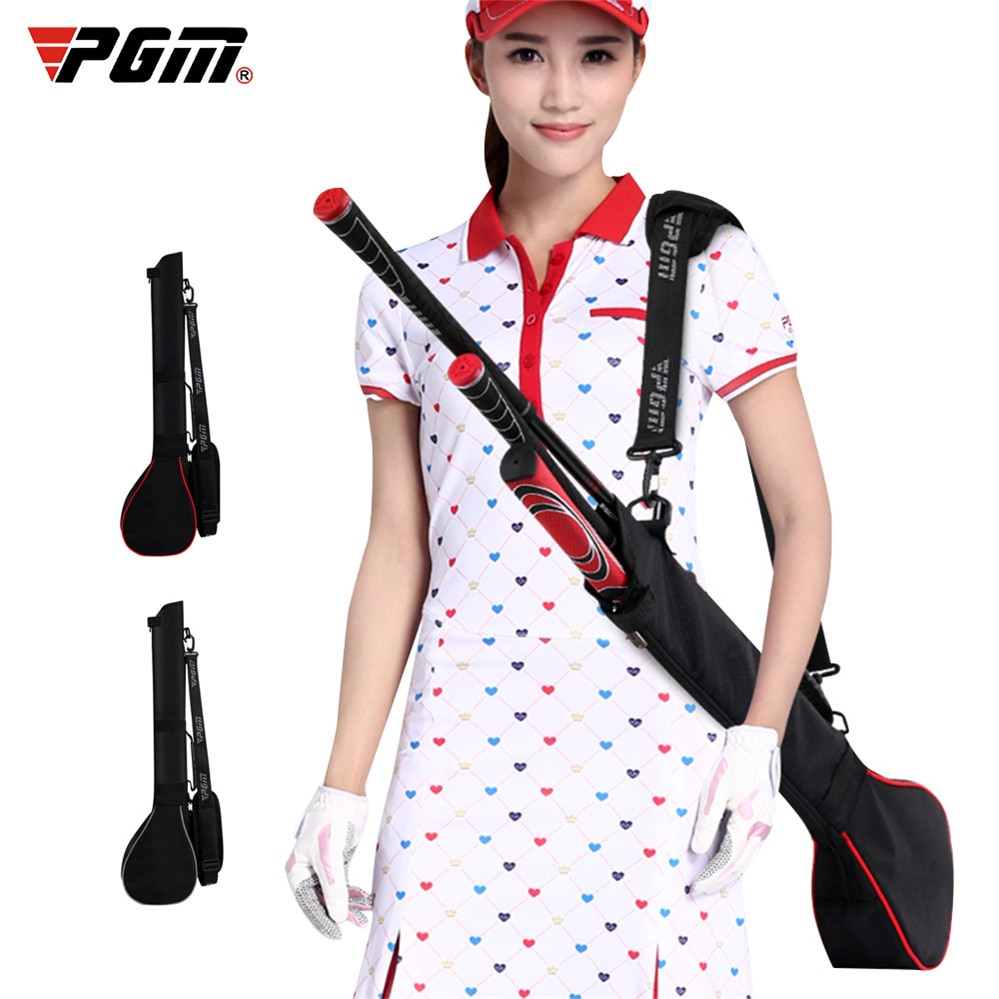 New Golf Club Carrier Bag Outdoor Practice Training Carry Driving Range Travel Gun Bag Foldable Portable Can Hold 3 Clubs
